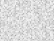 Vector Illustration of abstract big data numeric business background Royalty Free Stock Photography