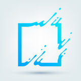 Vector Illustration of Abstract Blue Square Royalty Free Stock Photography