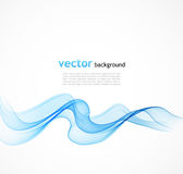 Abstract blue wave Stock Photo
