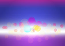 Vector illustration of abstract bokeh background in color highli Stock Photography