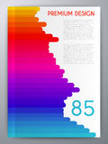 Vector illustration of abstract booklet. magazine Cover Royalty Free Stock Photo