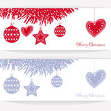 Vector illustration abstract Christmas Background Stock Photos