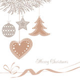 Vector illustration abstract Christmas Background Stock Photography