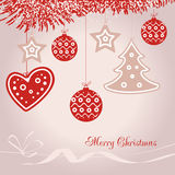 Vector illustration abstract Christmas Background Royalty Free Stock Photography