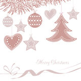 Vector illustration abstract Christmas Background Royalty Free Stock Photos