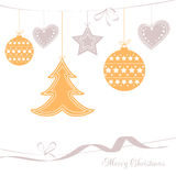 Vector illustration abstract Christmas Tree Royalty Free Stock Photo