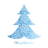 Vector illustration abstract Christmas Tree Royalty Free Stock Image