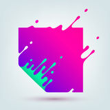 Vector Illustration of Abstract Colored Square Royalty Free Stock Images