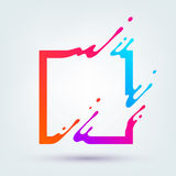Vector Illustration with Abstract Colorful Square Royalty Free Stock Images