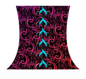 Vector illustration of abstract corset. Vector illustration of abstract floral corset Royalty Free Stock Photography