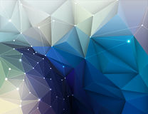 Vector illustration Abstract 3D Geometric, Polygonal pattern Royalty Free Stock Image