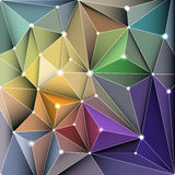 Vector illustration Abstract 3D Geometric, Polygonal, Triangle pattern in molecule structure shape Stock Photos