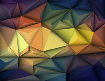 Vector illustration Abstract 3D Geometric, Polygonal, Triangle pattern. Shape and multicolored,blue, purple, yellow and green background Stock Image