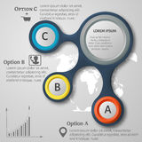 Vector illustration of abstract 3d infographic elements. Metaball infographics. Round elements. International service concept Stock Photo