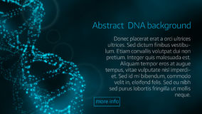 Vector illustration of abstract  DNA background Stock Photography