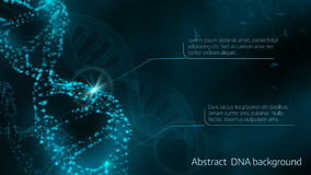 Vector illustration of abstract  DNA background Royalty Free Stock Photo