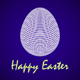 Vector illustration of abstract Easter egg Royalty Free Stock Images