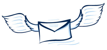 Vector illustration of an abstract envelope Stock Photo