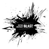 Vector illustration of an abstract explosion. Stock Images