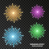 Vector illustration of an abstract explosion. Abstract image of explosion, illustration background, dark matter, the explosion effect. With the image of the Stock Image