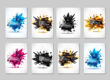 Vector illustration of an abstract explosion. Royalty Free Stock Photo