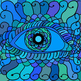Vector illustration, abstract eyes artwork 1 Royalty Free Stock Image