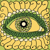 Vector illustration, abstract eyes artwork, 2 Stock Photo