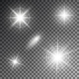 Vector illustration of abstract flare light rays.  Royalty Free Illustration