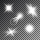 Vector illustration of abstract flare light rays.  Vector Illustration
