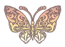 Vector illustration of abstract floral butterfly Royalty Free Stock Photos