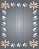 Vector illustration of abstract floral  frame. Royalty Free Stock Images