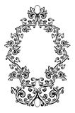 Vector illustration of an abstract floral frame Royalty Free Stock Photos
