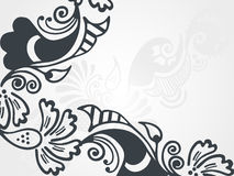 Vector illustration of abstract floral silhouette Royalty Free Stock Image