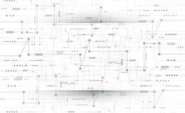 Vector illustration Abstract futuristic circuit board Stock Photos