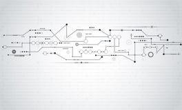 Vector illustration Abstract futuristic circuit board Stock Image