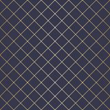 Vector Illustration Abstract geometric pattern with lines, squares . A seamless background. Dark blue and gold texture. Vector Illustration Abstract geometric Vector Illustration