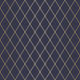 Vector Illustration Abstract geometric pattern with lines, squares . A seamless background. Dark blue and gold texture. Vector Illustration Abstract geometric Stock Illustration