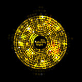 Vector illustration of abstract gold disco lights Stock Photography