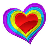 Vector illustration of an abstract heart Stock Image