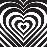 Vector illustration of abstract heart. Love symbol. Royalty Free Stock Photography