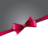 Holiday Background  with pink bow Royalty Free Stock Photo