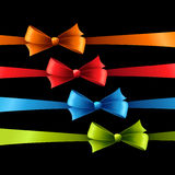 Holiday Background  with set of color bow Royalty Free Stock Photo