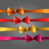Holiday Background  with set of color bow Stock Image
