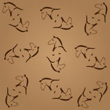 Vector illustration abstract horse icon background Stock Image