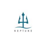 Vector illustration of abstract icon neptune Stock Photo