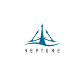 Vector illustration of abstract icon neptune Royalty Free Stock Photography