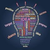 Vector illustration of abstract light bulb, creation idea concept. Illustration of abstract light bulb, creation idea concept Stock Images