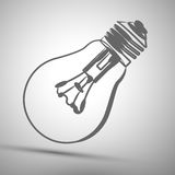 Vector illustration abstract lightbulb icon background Royalty Free Stock Photo