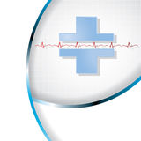Vector illustration of abstract medical background . Royalty Free Stock Images