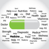 Vector illustration of abstract medical background . Royalty Free Stock Photos